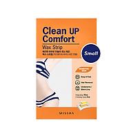 Miếng dán tẩy lông MISSHA Clean Up Comfort Wax Strip (Small)