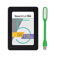 Ổ Cứng SSD 120GB L5 LITE 2.5 Team Group Sata III - Hàng Chính Hãng + Tặng Đèn Led