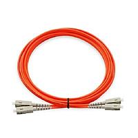 Dây nhảy quang VIVANCO SC-LC OM3 50/125 Multimode Duplex Fibre Patch Cable, Orange, 3m. Hàng chính hãng
