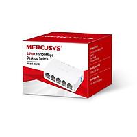 Bộ chia mạng Mercusys 5 cổng 10/100Mbp  MS105 tương thích tốt với nhiều loại Laptop, máy in, Camera IP, Smart Tivi - Hàng nhập khẩu (TẶNG KÈM ĐẦU ĐỌC THẺ NHỚ CAO CẤP)