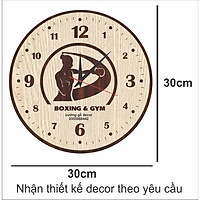 1 TẶNG 1 - Đồng Hồ Treo Tường Thể Thao Phòng GYM BOXING
