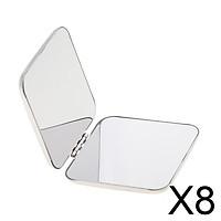 8xCompact Full Stainless Steel Cosmetic Handbag Makeup Mirror Magnifying