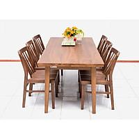 Bộ bàn ăn 6 ghế Nội Thất Nhà Bên NAN 09 (Nâu)