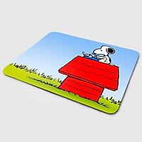 Miếng lót chuột mẫu Cún Snoopy Ngói Đỏ (20x24 cm) - Hàng Chính Hãng