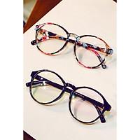 Retro Round Plain Glasses Spectacles Glasses Frame Eyewear Decoration