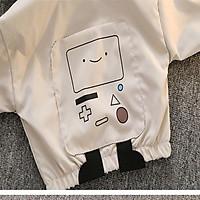 Freeship Áo khoác gió cho bé hình Robocon đáng yêu cho trẻ từ 1-3 tuổi -