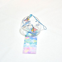 Chuông gió Furin thủy tinh pha lê mây thuyền quà tặng trang trí xinh xắn tặng ảnh thiết kế Vcone