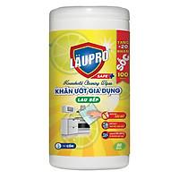 Khăn ướt Kháng khuẩn CHỨA CỒN - Gia dụng Läupro – Lau Bếp - Hộp 100 Khăn (Laupro) - Được Kiểm nghiệm & Chứng nhận!