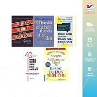Combo 5 cuốn: Nấc thang kỳ diệu dẫn đến thành công, 40 thói quen xấu cần vứt bỏ, Thay đổi câu hỏi thay đổi cuộc đời, Hình ảnh của bạn đáng giá triệu đô, Bí mật tư duy triệu phú
