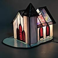 Đèn ngủ trang trí Tiffany ngôi nhà