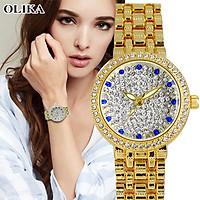 Đồng hồ nữ OLIKA JAPAN BELLA Đính Đá Sang Trọng - Tặng Kèm Pin ĐH Dự Phòng