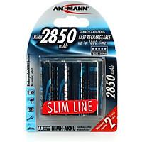 Pin sạc cao cấp ANSMANN Mignon HR6 AA-2850mAh Slimline Version - Hàng chính hãng
