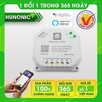 Công tắc thông minh Hunonic Lahu 2 kênh hỗ trợ Google Assistant . Công tắc cảm ứng WIFI kính cường lực- Công tắc điện 2 màu đen trắng | Hàng Việt Nam Chất Lượng Cao- BH 12 tháng