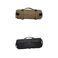 2 Set Black+Khaki Sand Bag Training Weight Bag Handles Boxing Sandbag Gym