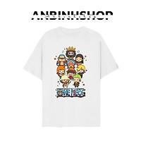 Áo thun unisex nam nữ in hình chibi One Piece Đảo Hải Tặc ACE Hỏa Quyền cực dễ thương chất vải mềm mịn mát từ AnbinhShop