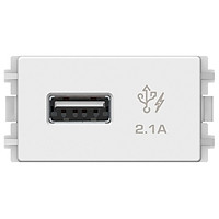 Ổ sạc USB 2.1A đơn Schneider Electric dòng ZENCELO A (Size S)