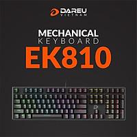 Bàn Phím Cơ Gaming Dareu EK810 Multi Led Black - Hàng Chính Hãng