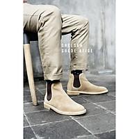 Giày nam Chelsea Boots Cổ cao chất liệu da lộn chống nước 3 màu tùy chọn