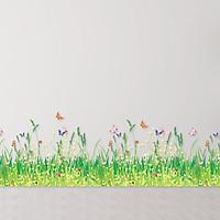 Decal dán chân tường Hoa liti AmyShop DCT002 - 2 bộ ( 35 x 200 cm)