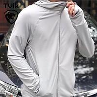 Áo chống nắng nam chống tia UV, loại cao cấp chống nắng vượt trội, thoáng mát, kéo cao cổ thay khẩu trang