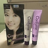 Nhuộm thảo dược phủ bạc thời trang màu nâu đen (Hàn Quốc) Welcos confume hair color 3N 2 x 60g