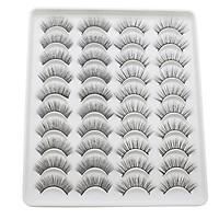 20 Pairs 3D Fake Eyelashes 2 Styles Mixed False Eyelashes for Eye Makeup Natural Long Thick Lashes