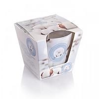 Ly nến thơm Bartek Candles BAT0594 Wellness & Beauty Cotton 115g (Hương hoa bông)