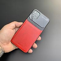 Ốp lưng da kính cao cấp dành cho iPhone 11 Pro - Màu đỏ - Hàng nhập khẩu - DELICATE