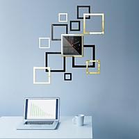 Đồng hồ treo tường 3D tự lắp ráp phong cách Châu Âu hiện đại  DH01 hình vuông