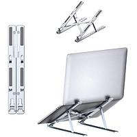 Giá đỡ máy tính bằng hợp kim nhôm INPHIC R5 điều chỉnh 7 cấp độ cho máy từ 10-15,6 inch có thể gập lại - Hàng chính hãng