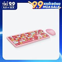 Bộ bàn phím không dây Moffi 666 2.4G 110 phím nhiều màu sắc cho nữ