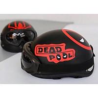 Mũ bảo hiểm Deapool Tặng kính uv chống bụi màu ngẫu nhiên