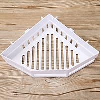 Khay kệ tam giác dán góc tường để đồ nhà tắm, phòng bếp, có sẵn miếng dán chống thấm nước chịu lực 3-5kg, kệ để đồ nhà tắm, kệ để gia vị nhà bếp