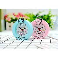 Đồng Hồ Để Bàn Hello Kitty Siêu Dễ Thương - Màu Ngẫu Nhiên (Hồng Cánh Sen Và Xanh Dương)