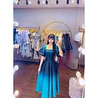 Đầm dự tiệc tay ngắn phồng phối màu ombre sang trọng TRIPBLE T DRESS -size M/L (kèm ảnh/video thật) MS251V