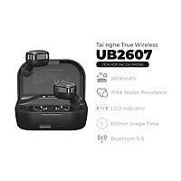 Tai nghe True Wireless Stereo Energizer UB2607 - tích hợp sạc dự phòng 2600mAh, thiết kế nhỏ gọn, âm thanh chuẩn HD - HÀNG CHÍNH HÃNG