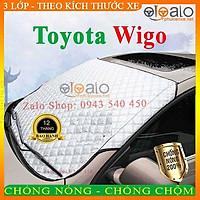 Bạt Phủ dành cho Ô Tô Toyota Wigo Cao Cấp 3 Lớp Chống Nắng Nóng Chống Nước Chống xước