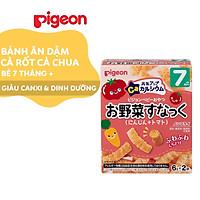 Bánh ăn dặm cho bé vị cà rốt và cà chua Pigeon 12g (2 túi/hộp)
