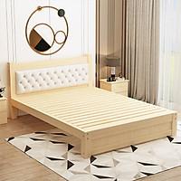 Giường gỗ thông cao cấp có tựa lưng GUT005