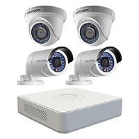 Trọn bộ 4 Camera giám sát HIKVISION TVI 2 Megapixel DS-2CE56D0T-IR chuẩn Full HD - Hàng chính hãng