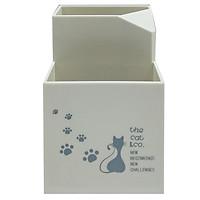 Cắm Bút Nhựa 2 Ngăn 4301-10 - Màu Trắng