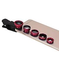 Bộ ống kính máy ảnh điện thoại thông minh 5 trong 1 với góc rộng & macro 0,67X + Ống kính mắt cá 180 ° + Ống kính tele 2X + Ống kính CPL - Bạc