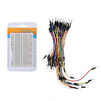 MB102 400 Tie Points Prototype Board PCB Breadboard + 65pcs Jumper Cable Wire