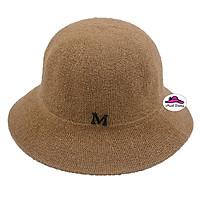 Nón cói đi biển vành nhỏ Quảng Châu logo chữ M đơn giản, thoáng mát kh iđội - Hạnh Dương