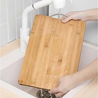 Thớt gỗ vuông nhà bếp chống nấm mốc - Chất liệu gỗ tre siêu bền