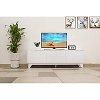 KỆ TIVI TRANG TRÍ NHÀ CỬA GỖ MDF [SIZE1m5] MÀU TRẮNG-TV SHELF WHITE [1M5]