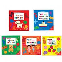 Combo 5 cuốn Cùng chơi trốn tìm 1 động vật + 2 phương tiện giao thông +3đồ chơi +4 trang phục +5 trái cây (Tặng kèm bookmark AHA)