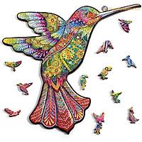 Bộ xếp hình gỗ đồ chơi puzzle ghép hình con vật, bộ xếp hình trí tuệ, quà tặng bạn bè - Chú chim