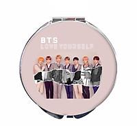 Gương tròn cầm tay BTS LOVE YOURSELF hai mặt