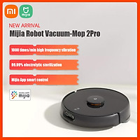 Xiaomi Mijia Robot Vacuum-Mop 2Pro Vacuum Cleaner w/Electrolytic Sterilization/Obstacle Avoidance/4000Pa Suction/Smart